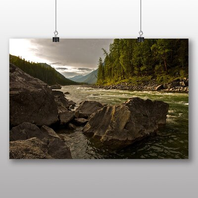 Big Box Art River Landscape No.2 Photographic Print on Canvas