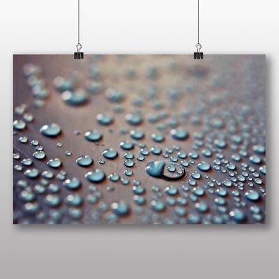 Big Box Art Rain Drops Graphic Art Wrapped on Canvas