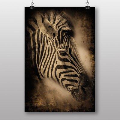 Big Box Art Zebra Face Graphic Art
