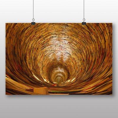 Big Box Art Prague Book Tunnel No.2 Photographic Print