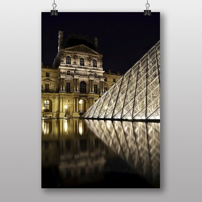 Big Box Art The Louvre Pyramid Paris France No.2 Photographic Print Wrapped on Canvas