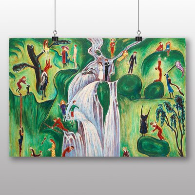 """Big Box Art """"The Waterfall"""" by Nils von Dardel Art Print Wrapped on Canvas"""