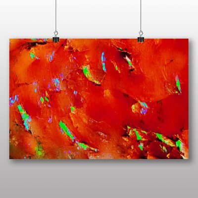 Big Box Art Red Abstract Design No.2 Art Print Wrapped on Canvas
