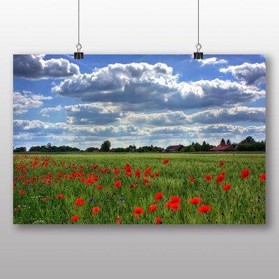 Big Box Art Poppy Field Flower No.5 Photographic Print