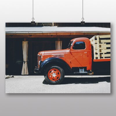 Big Box Art 'Red Truck' Photographic Print