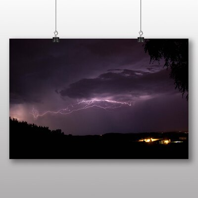 Big Box Art Thunder Lightening Storm No.6 Graphic Art Wrapped on Canvas
