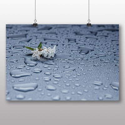 Big Box Art Rain Drops Water No.5 Photographic Print Wrapped on Canvas