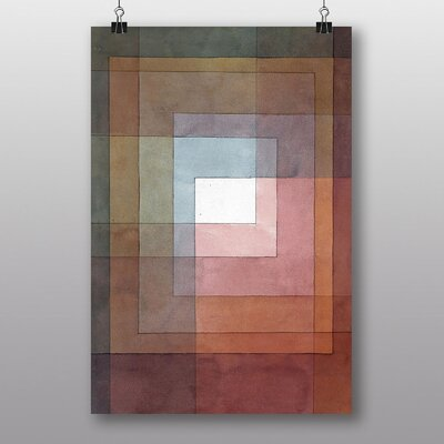 Big Box Art Watercolour Squares by Paul Klee Art Print