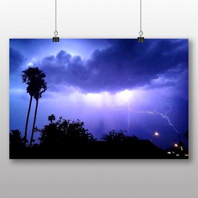 Big Box Art Thunder Lightening Storm No.2 Photographic Print Wrapped on Canvas