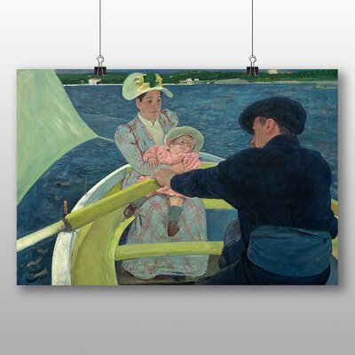 Big Box Art 'The Boating Party' by Mary Cassatt Art Print