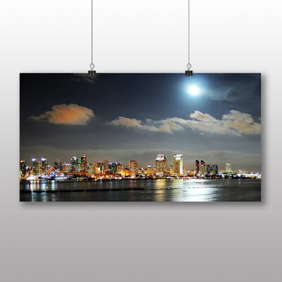 Big Box Art San Diego Skyline California USA Photographic Print
