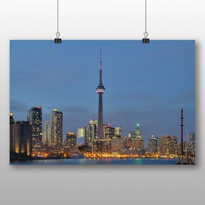 Big Box Art Toronto Canada Skyline Photographic Print Wrapped on Canvas