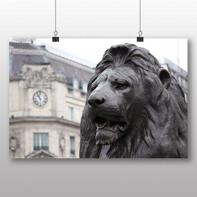 Big Box Art Trafalgar Square Lions London Photographic Print