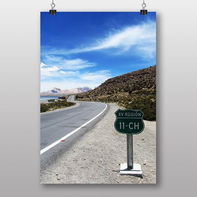 Big Box Art Road in Chile Photographic Print Wrapped on Canvas