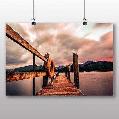 Big Box Art Pier Sunset Photographic Print