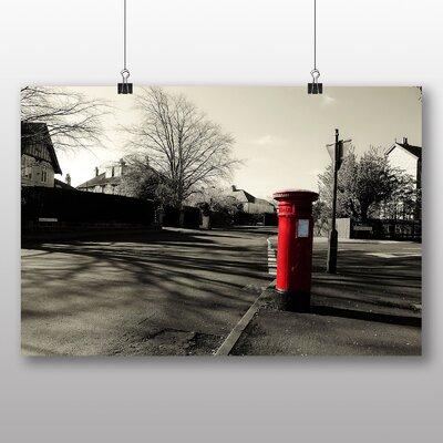 Big Box Art Postbox England Photographic Print on Canvas