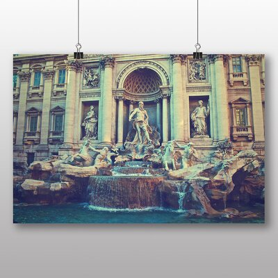 Big Box Art Trevi Fountain Rome Italy Photographic Print Wrapped on Canvas