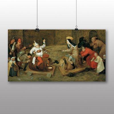 Big Box Art 'the Elder Battle Between Carnival and Lent' by Pieter Bruegel Art Print