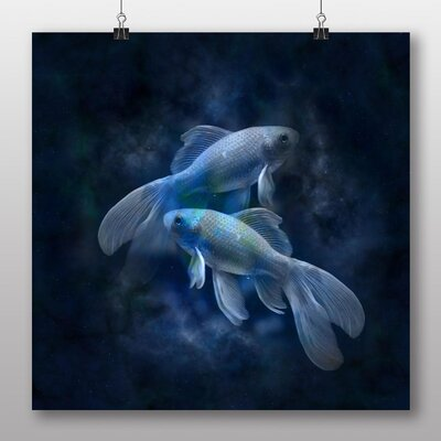 Big Box Art Pisces Astrology Zodiac Graphic Art Wrapped on Canvas