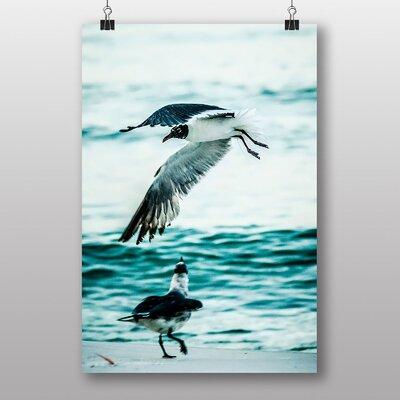 Big Box Art Two Seagulls Photographic Print on Canvas