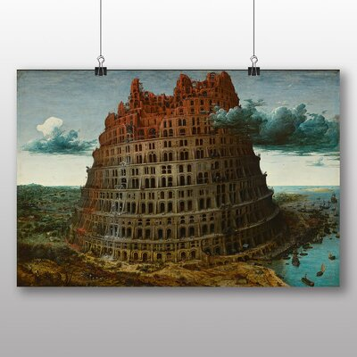 Big Box Art 'The Elder the Tower of Babel' by Pieter Bruegel Art Print