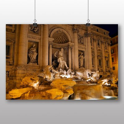 Big Box Art Trevi Fountain Rome Italy No.2 Photographic Print on Canvas