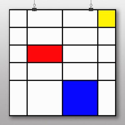 Big Box Art 'Style of No.2' by Piet Mondrian Graphic Art