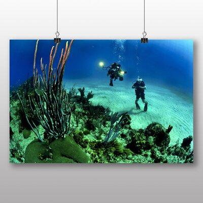 Big Box Art Scuba Divers Photographic Print on Canvas
