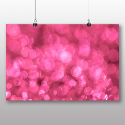 Big Box Art Pink Blurred Fairy Lights Abstract No.8 Graphic Art on Canvas