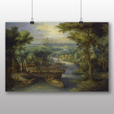 Big Box Art 'the Elder River Landscape' by Pieter Bruegel Art Print