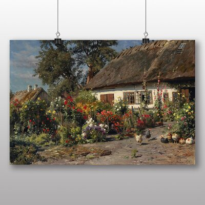 Big Box Art 'A Cottage Garden' by Peder Mork Monstead Art Print