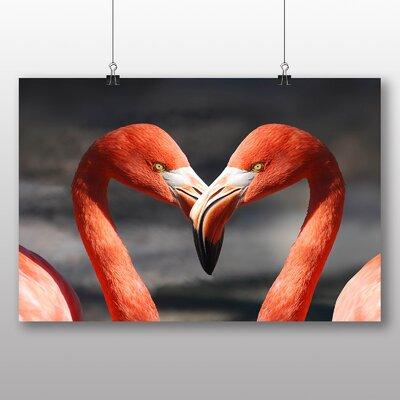 Big Box Art Two Pink Flamingos Photographic Print
