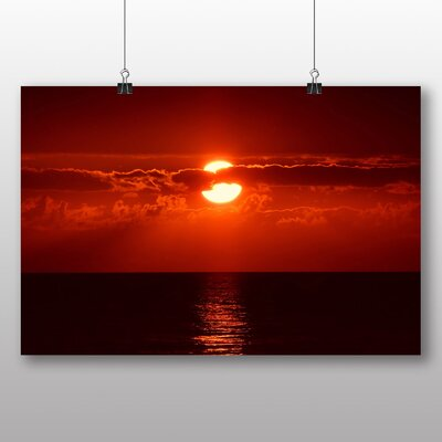Big Box Art Red Sky Sunset No.2 Photographic Print Wrapped on Canvas