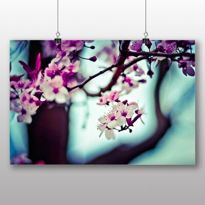 Big Box Art Pink Flowers Photographic Print on Canvas