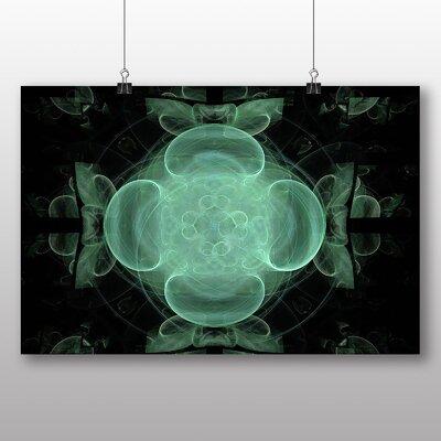 Big Box Art Mixed Colour Fractal Abstract No.18 Graphic Art on Canvas