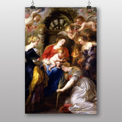 "Big Box Art ""Crowning of St Catherine"" by Peter Paul Rubens Art Print"