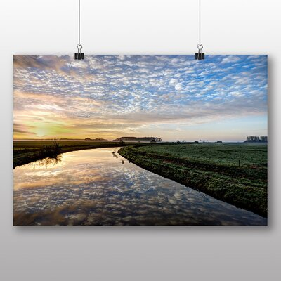 Big Box Art River Landscape No.4 Photographic Print on Canvas