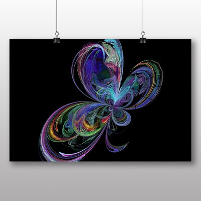 Big Box Art Mixed Colour Fractal Abstract No.50 Graphic Art Wrapped on Canvas
