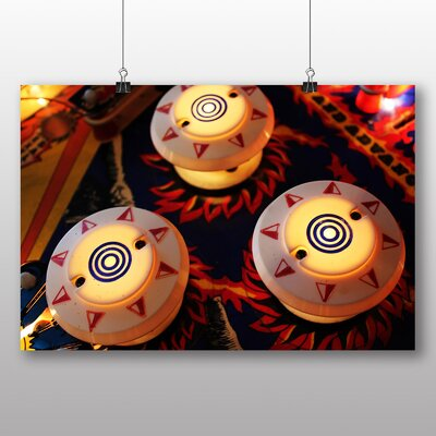 Big Box Art Pinball No.1 Photographic Print Wrapped on Canvas