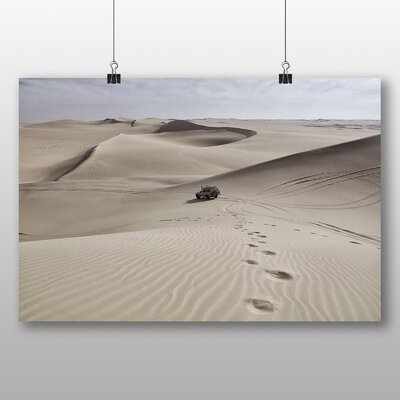 Big Box Art 'Sand Dune Desert Track' Photographic Print