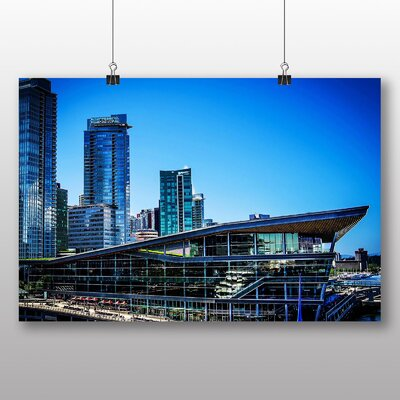 Big Box Art Vancouver Skyline City Canada No.9 Photographic Print Wrapped on Canvas