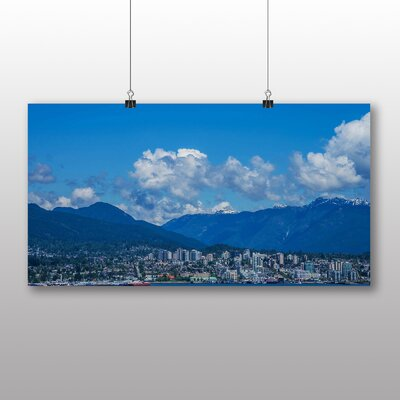 Big Box Art Vancouver Skyline City Canada No.8 Photographic Print on Canvas