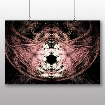 Big Box Art Pink Purple Fractal Abstract No.17 Graphic Art Wrapped on Canvas