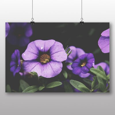 Big Box Art Purple Flowers Photographic Print Wrapped on Canvas