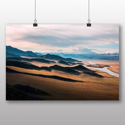 Big Box Art Prairie Landscape Mountains Photographic Print