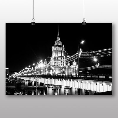 Big Box Art Moscow Seven Sisters Bridge Russia Photographic Print Wrapped on Canvas