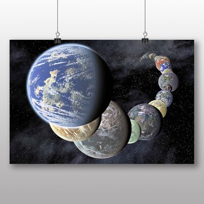 Big Box Art Planet Spiral Space Graphic Art on Canvas