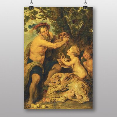 Big Box Art Man with a Tiger by Peter Paul Rubens Art Print