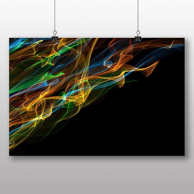 Big Box Art Smoke and Flames Abstract No.8 Graphic Art
