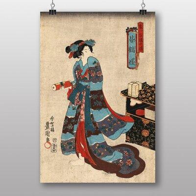 "Big Box Art ""Vintage Japanese Oriental No.23"" by Utagawa Toyokuni Art Print"
